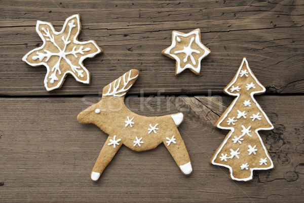Christmas or Winter Background with Reindeer Stock photo © Nelosa