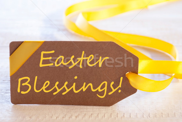 Label With Text Easter Blessings Stock photo © Nelosa