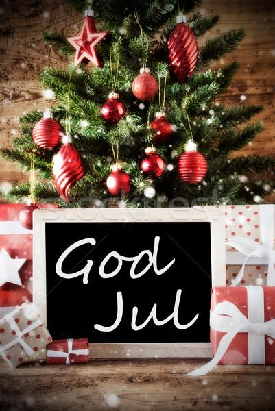 árvore deus alegre natal temporadas Foto stock © Nelosa