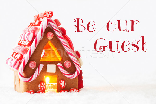 Gingerbread House, White Background, Text Be Our Guest Stock photo © Nelosa