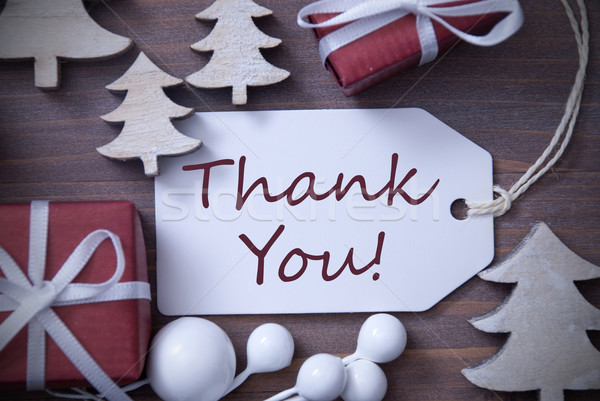 Christmas Label Gift Tree Thank You Stock photo © Nelosa