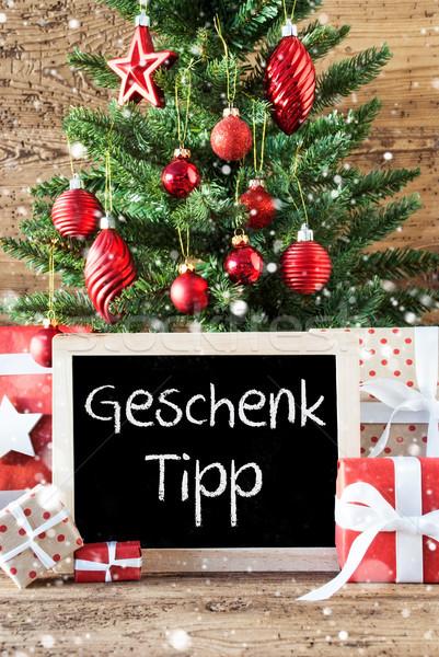 Colorido árvore de natal flocos de neve dom ponta quadro-negro Foto stock © Nelosa