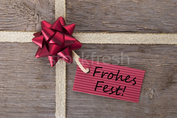 Fohes Fest on a red ticket Stock photo © Nelosa
