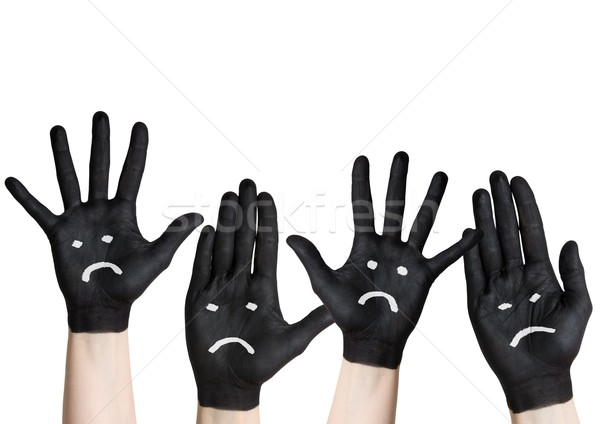 sad hands Stock photo © Nelosa