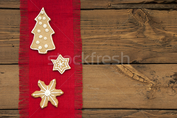 Stars and Christmas Tree Ginger Bread as Background Stock photo © Nelosa