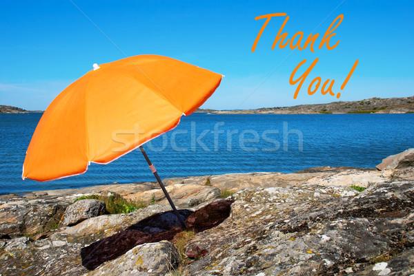 Swedish Coast With Thank You Stock photo © Nelosa