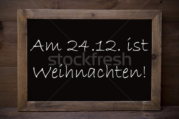 Chalkboard With Weihnachten Means Merry Christmas Stock photo © Nelosa