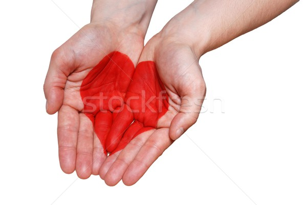 a hand with a heart Stock photo © Nelosa
