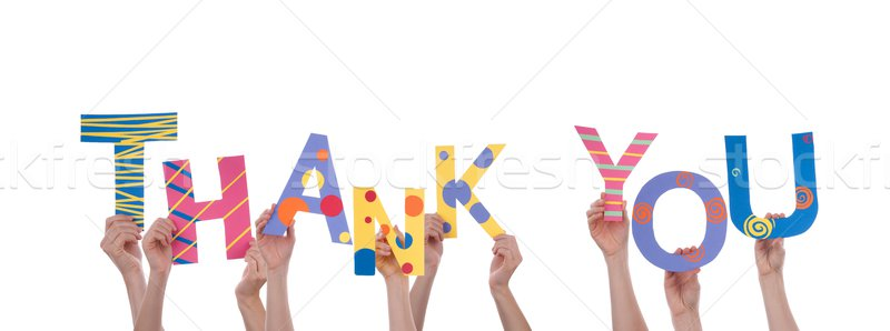 Many Hands Holding Thank You Stock photo © Nelosa