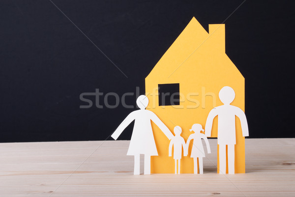 House with Paper Chain Family Stock photo © Nelosa