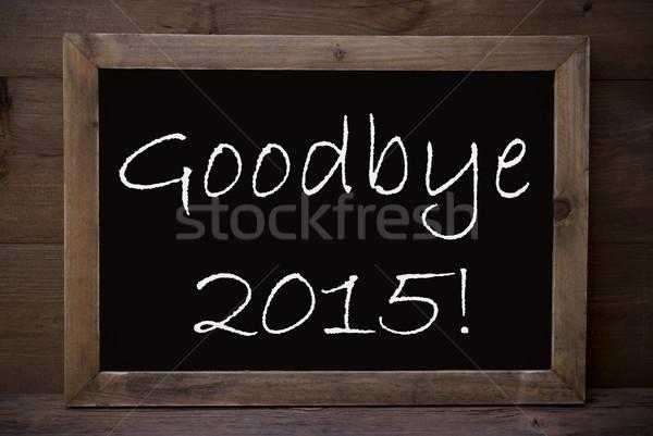 Schoolbord vaarwel 2015 bruin Blackboard Engels Stockfoto © Nelosa