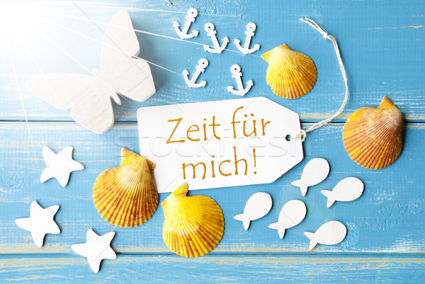 Summer Greeting Card With Zeit Fuer Mich Means My Time Stock photo © Nelosa