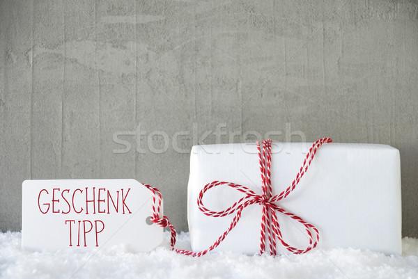 Photo stock: Urbaine · ciment · cadeau · pointe · étiquette · texte