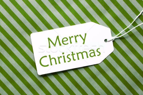 ラベル 緑 包装紙 文字 陽気な クリスマス ストックフォト © Nelosa