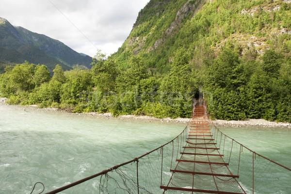 A Rusty Bridge over a River Stock photo © Nelosa