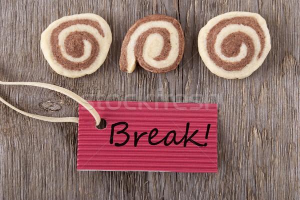 label with break Stock photo © Nelosa