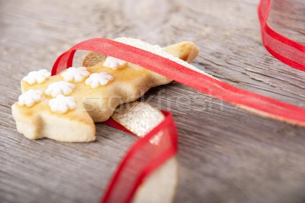 christmas cookie in ribbon Stock photo © Nelosa