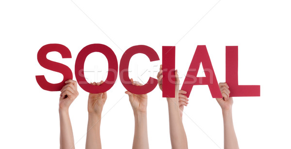 People Holding Social  Stock photo © Nelosa