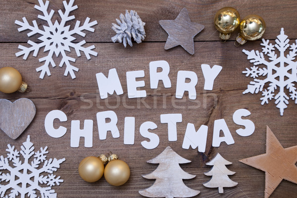 Wooden Background, Merry Christmas And Christmassy Decoration Stock photo © Nelosa