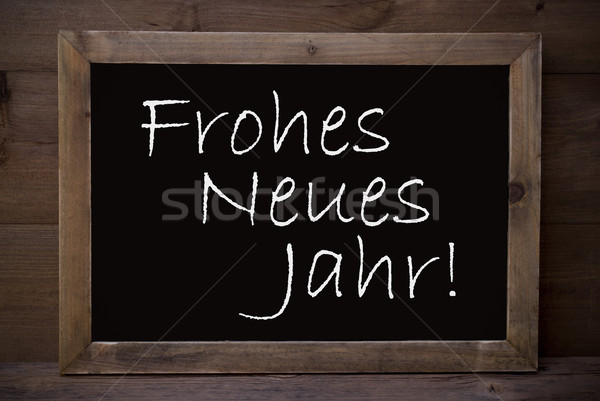 Chalkboard With Frohes Neues Jahr Means Happy New Year Stock photo © Nelosa