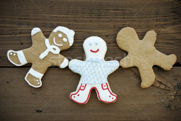 Three Happy Ginger Bread Man Stock photo © Nelosa