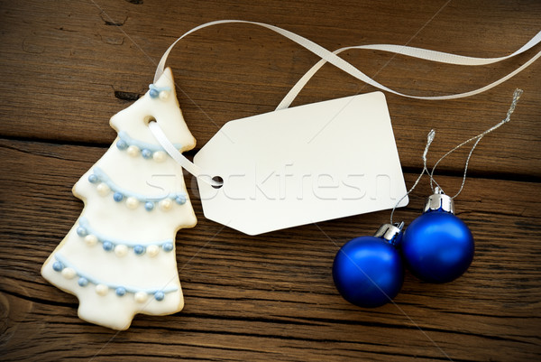 Christmas Decoration with Label with Copy Space Stock photo © Nelosa