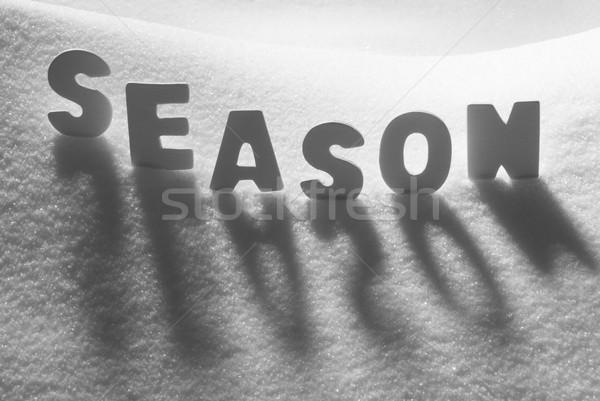 White Word Season On Snow Stock photo © Nelosa