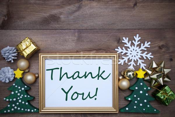 ストックフォト: フレーム · クリスマス · 装飾 · 文字 · ありがとう
