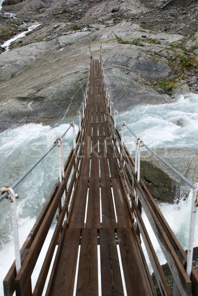 plank bridge over a river Stock photo © Nelosa
