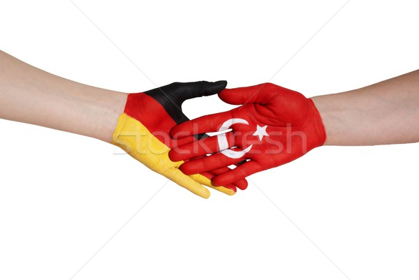 german and turkish handshake Stock photo © Nelosa