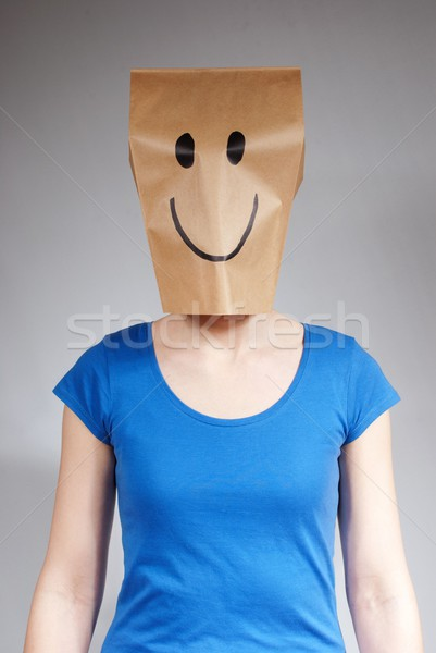 happy paper bag person Stock photo © Nelosa