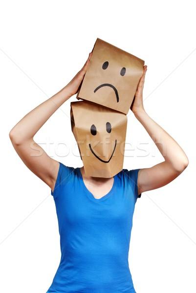 make happy out of sad Stock photo © Nelosa