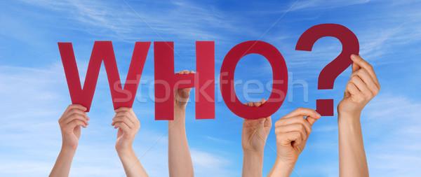 Personas cielo muchos rojo palabra Foto stock © Nelosa