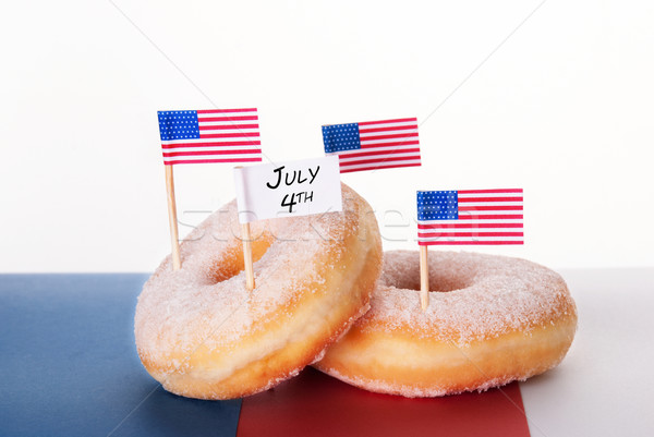Donuts with Flags and July 4th Stock photo © Nelosa