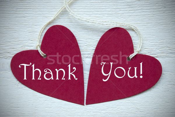 Two Red Hearts With Thank You Stock photo © Nelosa