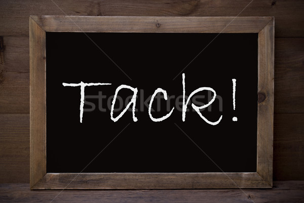 Chalkboard With Tack Means Thank You Stock photo © Nelosa