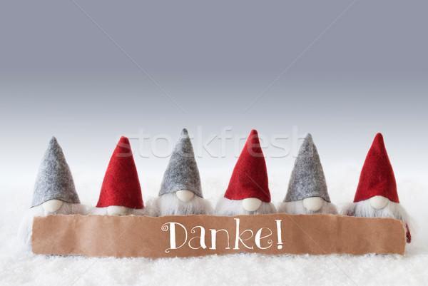 Zöld köszönjük címke szöveg karácsony üdvözlőlap Stock fotó © Nelosa