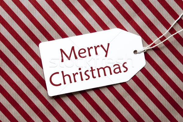 ラベル 赤 包装紙 文字 陽気な クリスマス ストックフォト © Nelosa