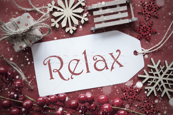 Nostalgic Christmas Decoration, Label With Text Relax Stock photo © Nelosa