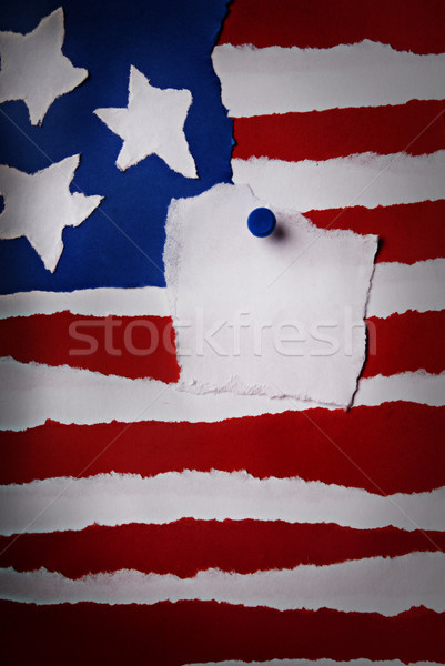 Old American Flag Backgroun Stock photo © Nelosa