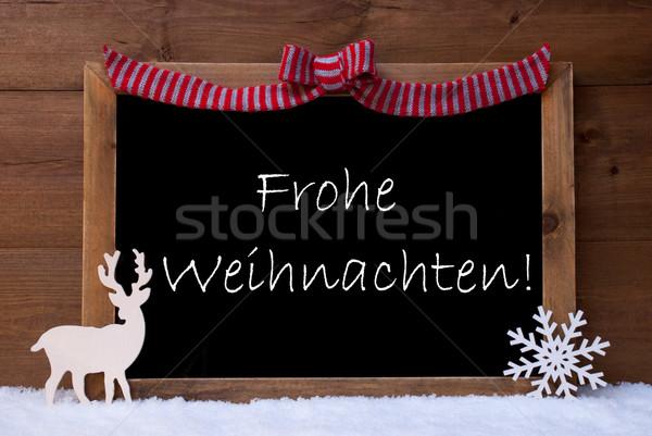 Stock photo: Card, Snowflak, Loop, Frohe Weihnachten Mean Merry Christmas