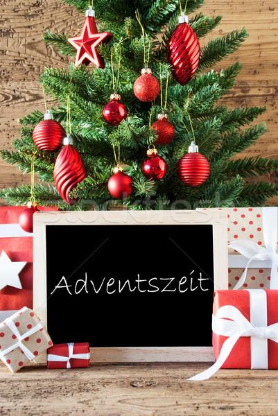 Farbenreich Weihnachtsbaum Text Aufkommen Jahreszeiten Stock foto © Nelosa
