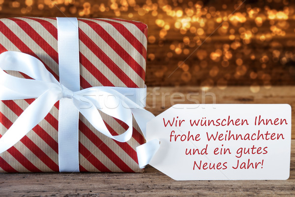 Atmospheric Gift Weihnachten Neues Jahr Means Christmas New Year Stock photo © Nelosa
