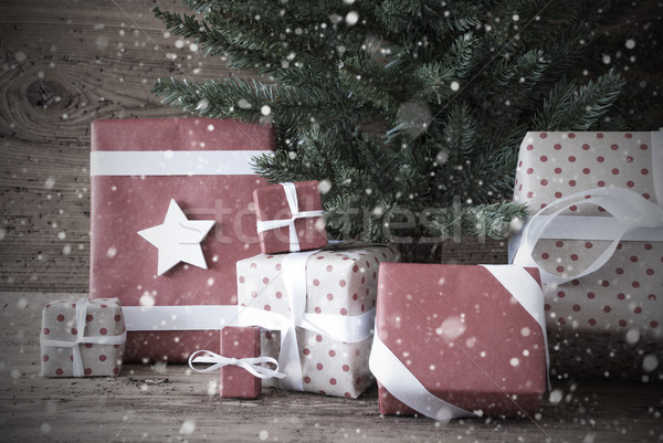 Nostalgic Christmas Tree With Gifts And Presents Stock photo © Nelosa