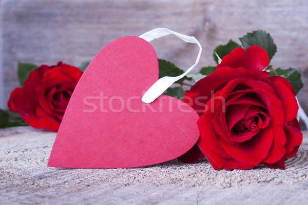 Red Heart Tag  Stock photo © Nelosa
