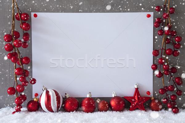 Etiket kar taneleri Noel bo Filmi Stok fotoğraf © Nelosa