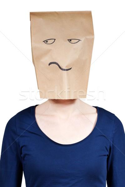 Annoiato persona critico guardando isolato donna Foto d'archivio © Nelosa