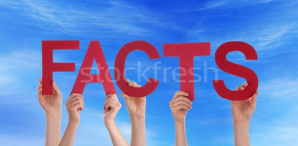 Pessoas fatos céu muitos vermelho Foto stock © Nelosa