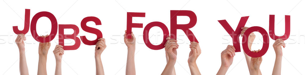 Hands Holding Red Word Jobs For You  Stock photo © Nelosa