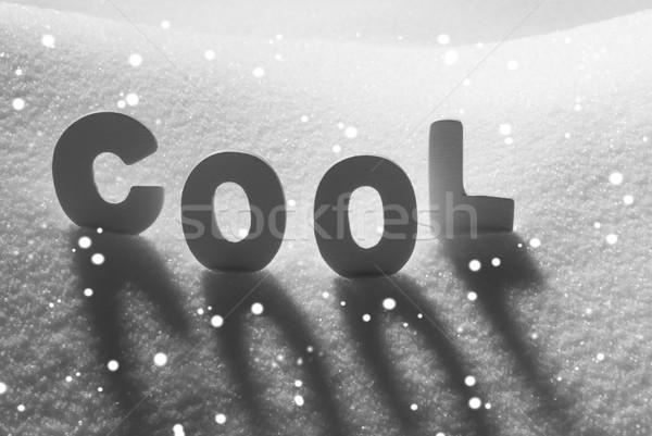 White Word Cool On Snow, Snowflakes Stock photo © Nelosa